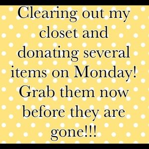 Closet clear out!!!!